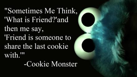 Quotes cookie monster sesame street wallpaper