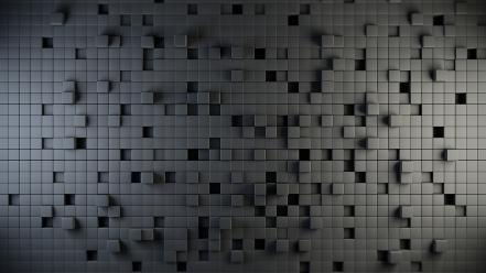 3d view abstract blocks gray cubes Wallpaper