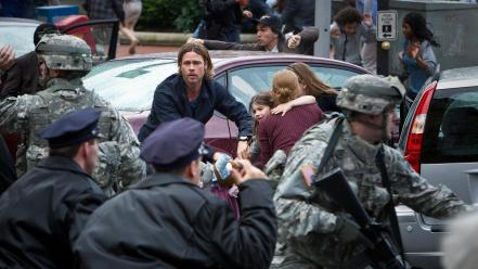 Brad pitt world war z movie stills wallpaper