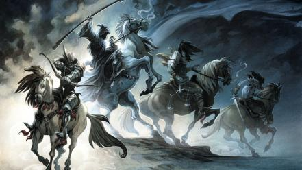 Fantasy art horses wallpaper