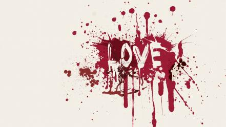 Love text white background paint splatter wallpaper