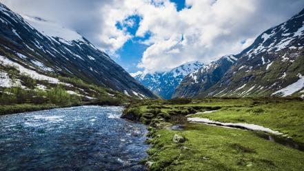 Mountains landscapes nature norway sky wallpaper