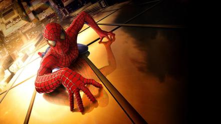 Movies spider-man superheroes marvel comics tobey maguire spectacular wallpaper
