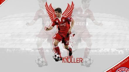 Munich stars thomas müller football player bundesliga wallpaper