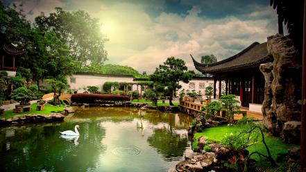 Cityscapes chinese singapore wallpaper