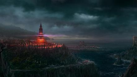 Digital artwork port portuguese andreas rocha sea wallpaper