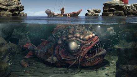 Duke nukem fantasy art artwork fishermen wallpaper