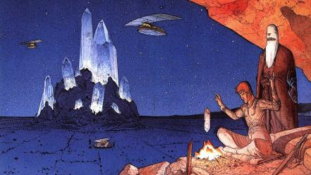 Fantasy art artwork moebius Wallpaper