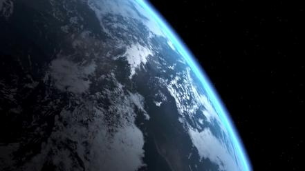 Outer space world earth from above wallpaper
