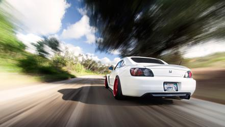 Cars roads honda s2000 white stance wallpaper