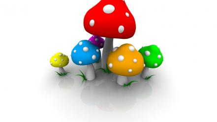 Cgi mushrooms wallpaper