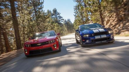 Chevrolet camaro shelby mustang zl1 ford gt500 wallpaper