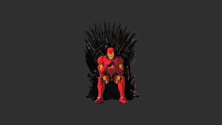 Iron man artwork game of thrones wallpaper