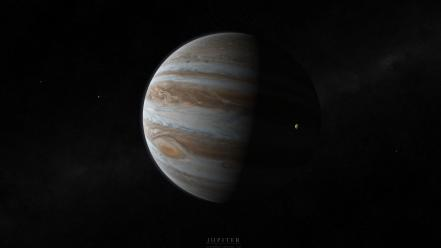 Outer space stars planets jupiter moons wallpaper