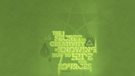 Text quotes typography albert einstein green background wallpaper