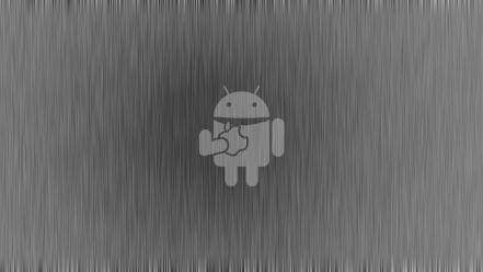 Android bucket grey background wallpaper