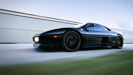 Black cars ferrari auto Wallpaper