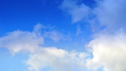 Blue clouds skies wallpaper