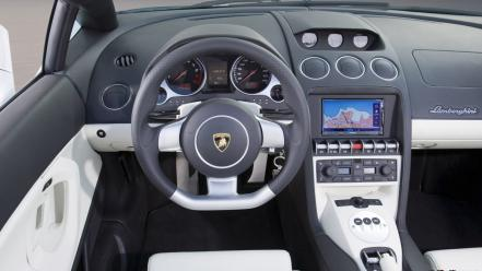 Cars lamborghini vehicles steering wheel Wallpaper