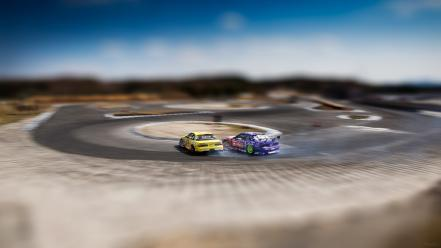Cars nissan tilt-shift vehicles drifting speedhunters.com Wallpaper