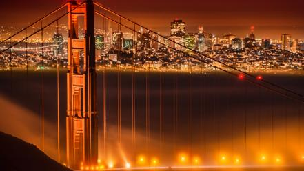 Fog golden gate bridge wallpaper