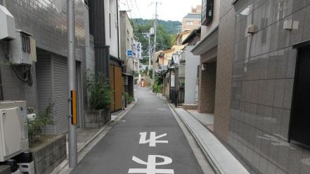 Japan cityscapes streets houses kyoto asia wallpaper