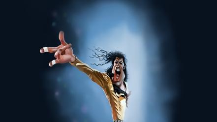 Michael jackson singers caricature wallpaper