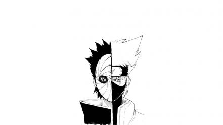 Obito kakashi hatake tobi simple background white wallpaper