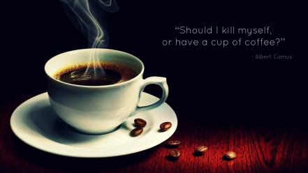 Suicide philosophy beans drinks albert camus philosophers wallpaper
