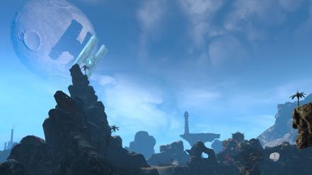 Video games landscapes satellite hyperion oasis borderlands 2 wallpaper