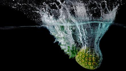 Water fruits slow motion Wallpaper