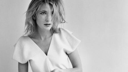 White actresses cate blanchett monochrome simple background wallpaper