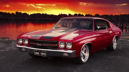 Cars chevrolet chevelle ss chevy Wallpaper