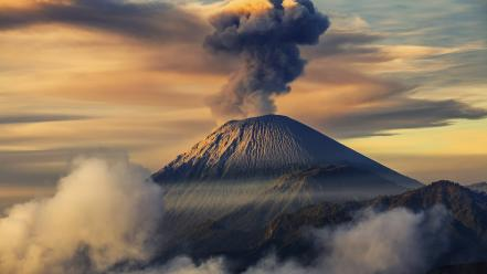 Landscapes nature volcanoes wallpaper