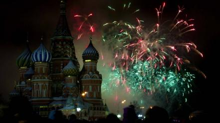 New year moscow red square wallpaper