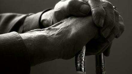 Old hands cane life story wallpaper