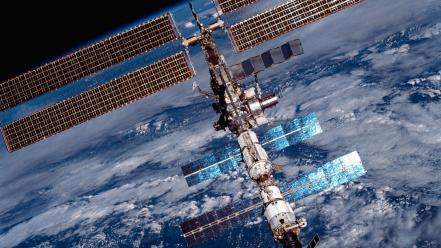 Outer space international station wallpaper