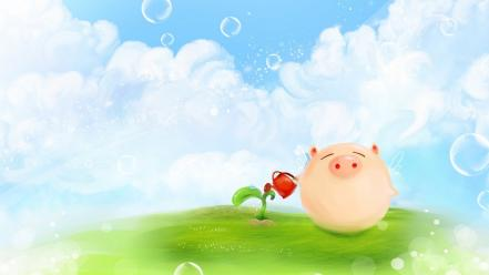 Pigs artwork wallpaper