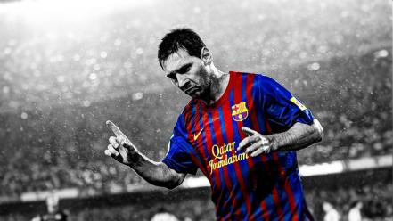 Selective coloring lionel andres messi barcelona fc wallpaper