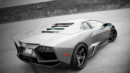 Silver lamborghini reventon sports car Wallpaper