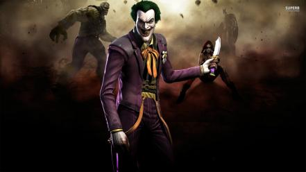 Video games the joker posters gods screens injustice Wallpaper