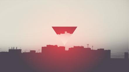 Abstract architecture hipster photo manipulation wallpaper