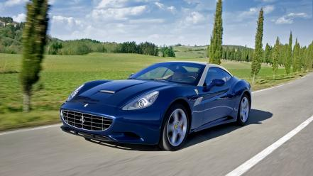 Blue cars ferrari california wallpaper