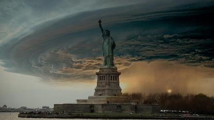Cityscapes statue of liberty wallpaper