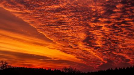 Clouds landscapes fire skyscapes the sky wallpaper