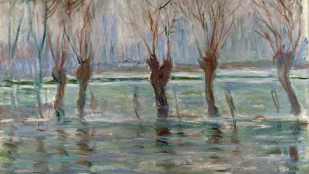 Paintings claude monet impressionism wallpaper