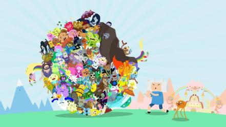 Parody adventure time katamari damacy wallpaper