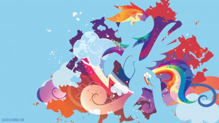 Ponies rainbow dash pony: friendship is magic Wallpaper
