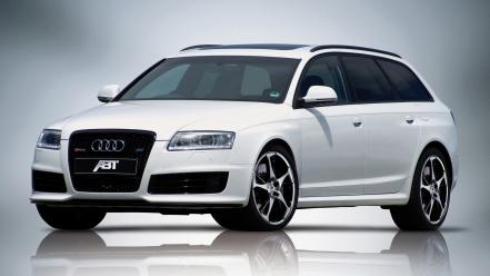 White cars abt audi rs6 wallpaper