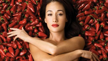 Asians maggie q peppers wallpaper
